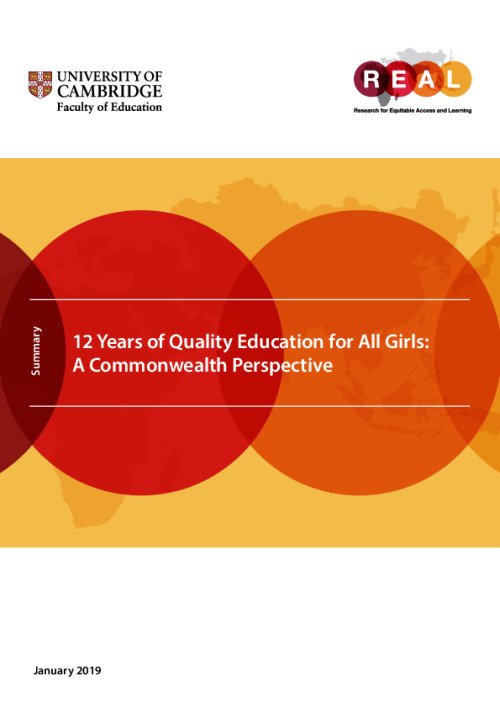 12 Years of Quality Education for All Girls: A Commonwealth Perspective (summary)