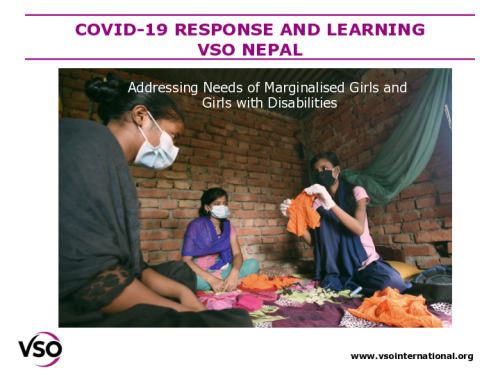 COVID-19 response and learning: Addressing the needs of marginalised girls and girls with disabilities