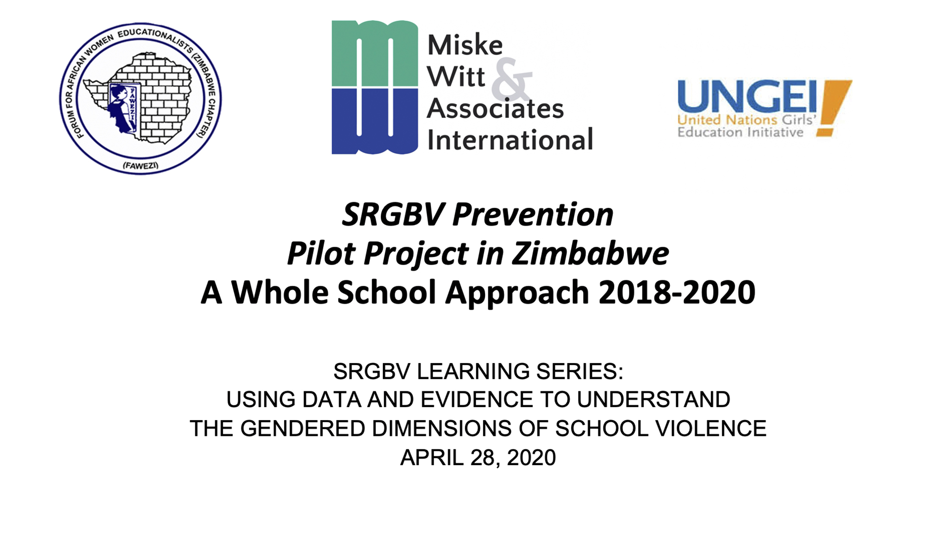 SRGBV Prevention Pilot Project in Zimbabwe
