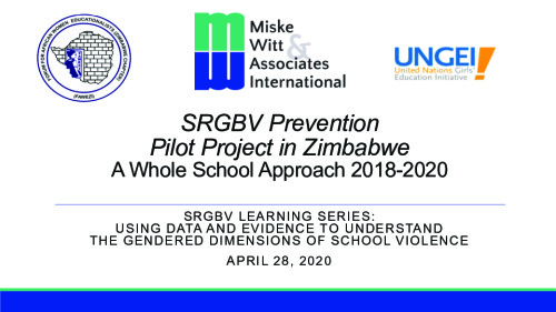 SRGBV prevention pilot project in Zimbabwe: A whole school approach 2018-2020