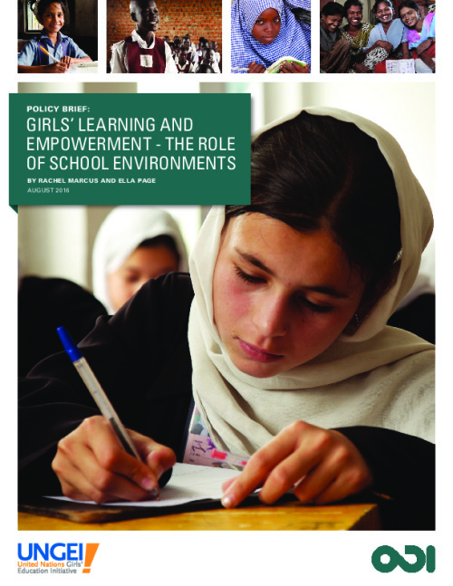 Girls' learning and empowerment: The role of school environments