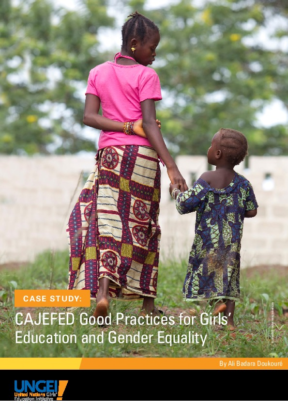 CAJEFED good practices for girls' education and gender equality