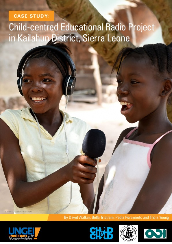 Child-centred educational radio project in Kailahun District, Sierra Leone