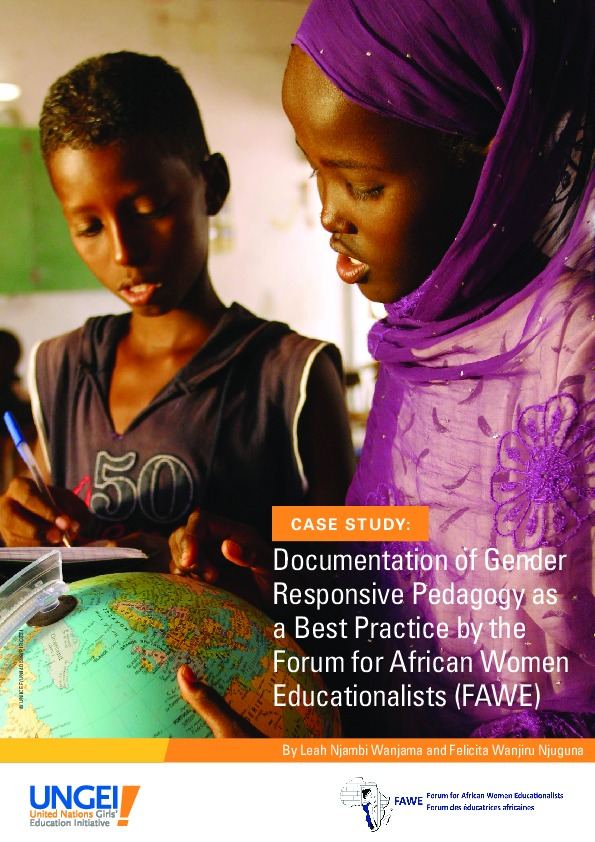 Documentation of gender-responsive pedagogy as a best practice by the Forum for African Women Educationalists (FAWE)