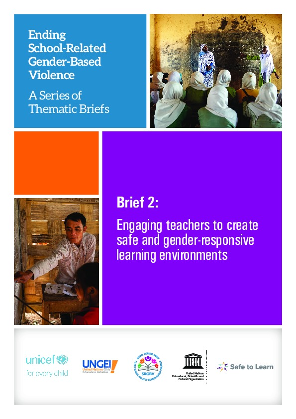 Brief 2: Engaging teachers to create safe and gender-responsive learning environments