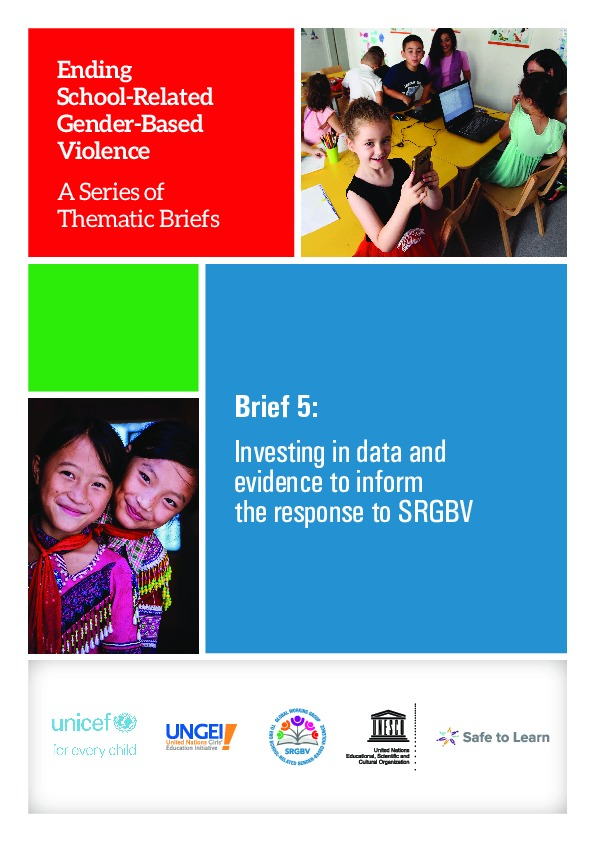 Brief 5: Investing in data and evidence to inform the response to SRGBV