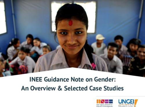 INEE Guidance Note on Gender: An overview and selected case studies