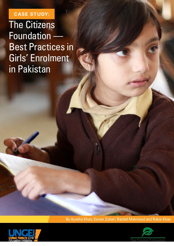 The Citizens Foundation: Best practices in girls' enrolment in Pakistan