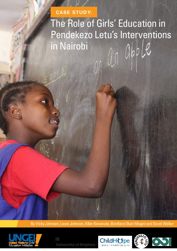 The role of girls' education in Pendekezo Letu's interventions in Nairobi
