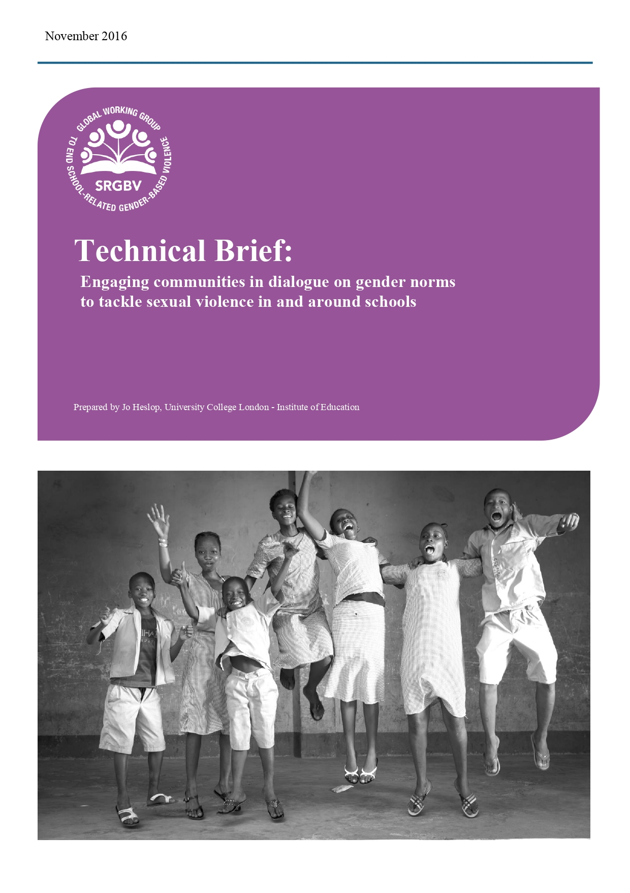 Technical Brief: Engaging communities in dialogue on gender norms to tackle sexual violence in and around schools