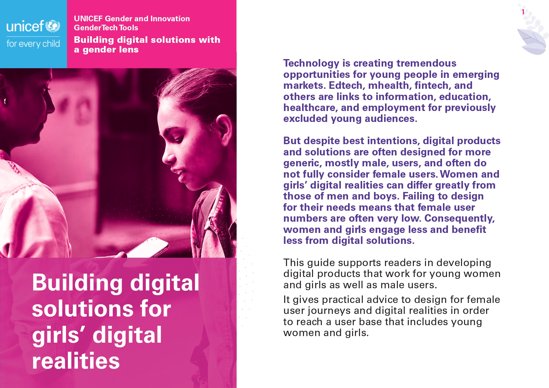 Building digital solutions for girls' digital realities
