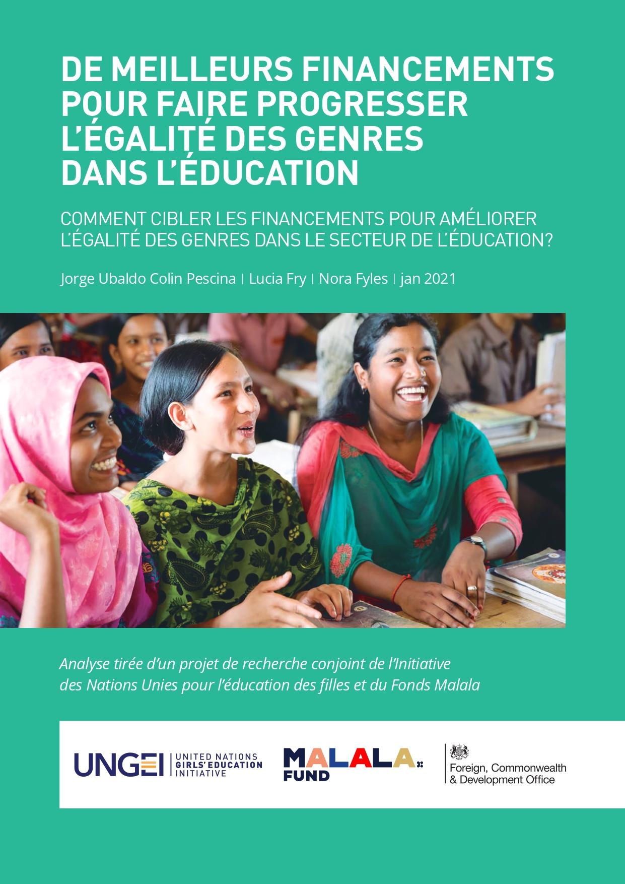 De meilleurs financements pour faire progresser  l'égalité des genres dans l'éducation
