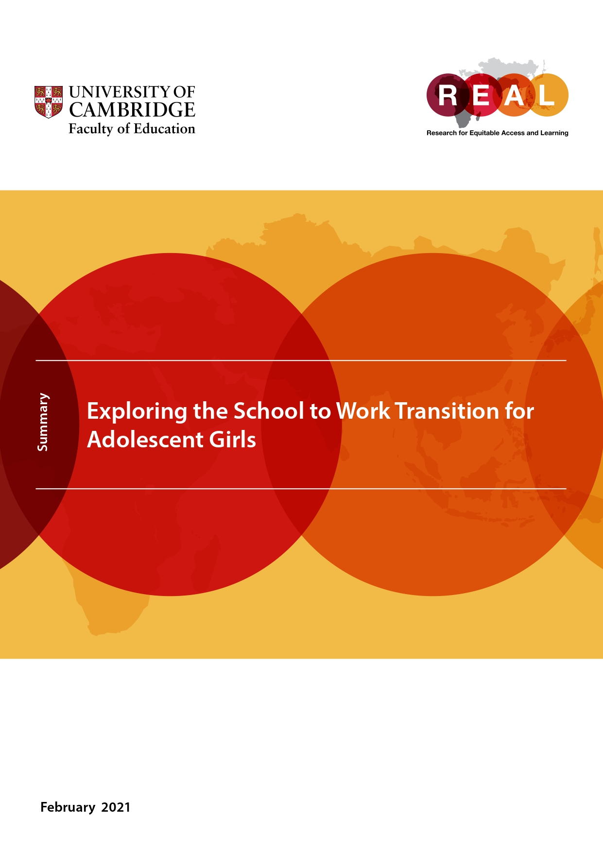 Exploring the School to Work Transition for Adolescent Girls