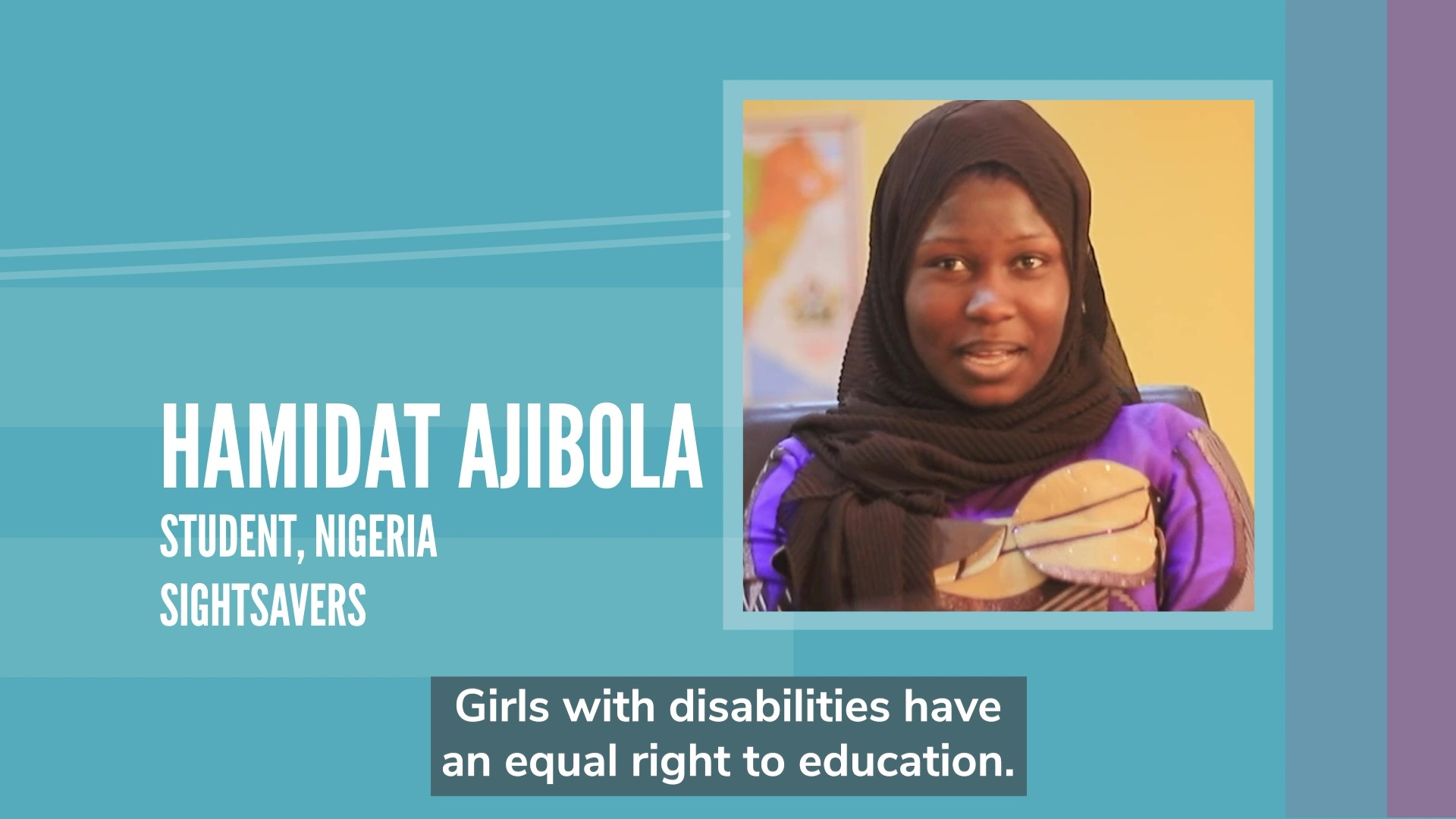 Girls with disabilities have an equal right to education