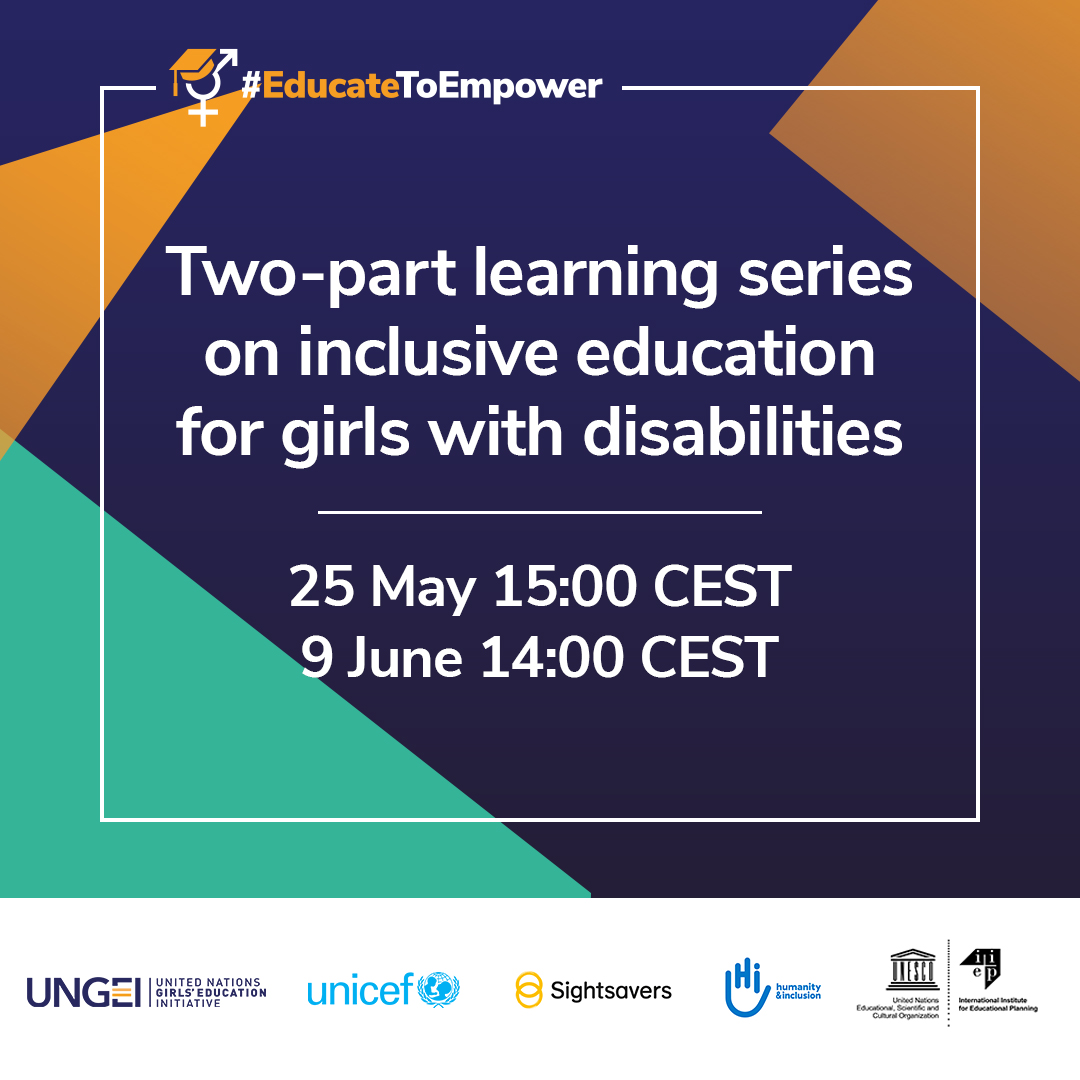 Inclusive education for girls with disabilities: join the new two-part learning series