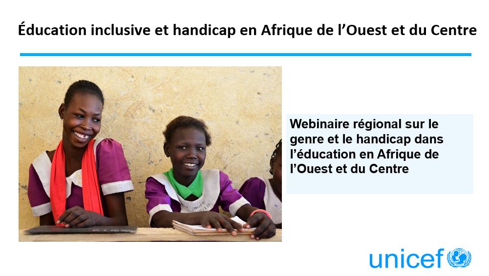 Éducation inclusive et handicap en Afrique de l'Ouest et du Centre
