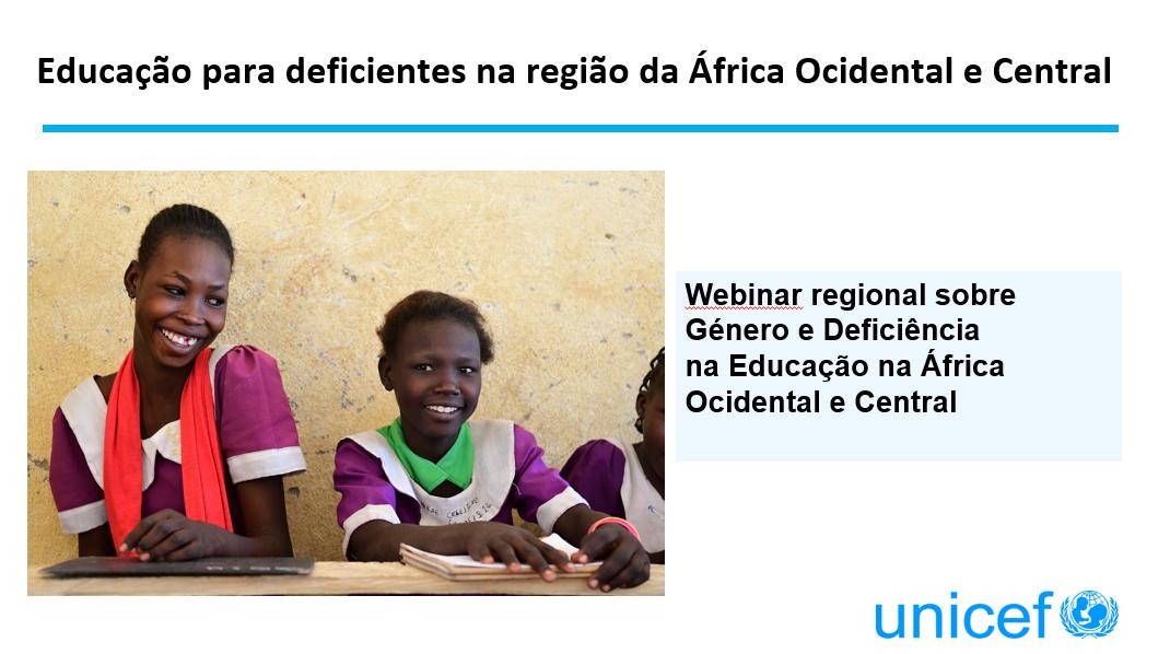 Educação para deficientes na região da África Ocidental e Central