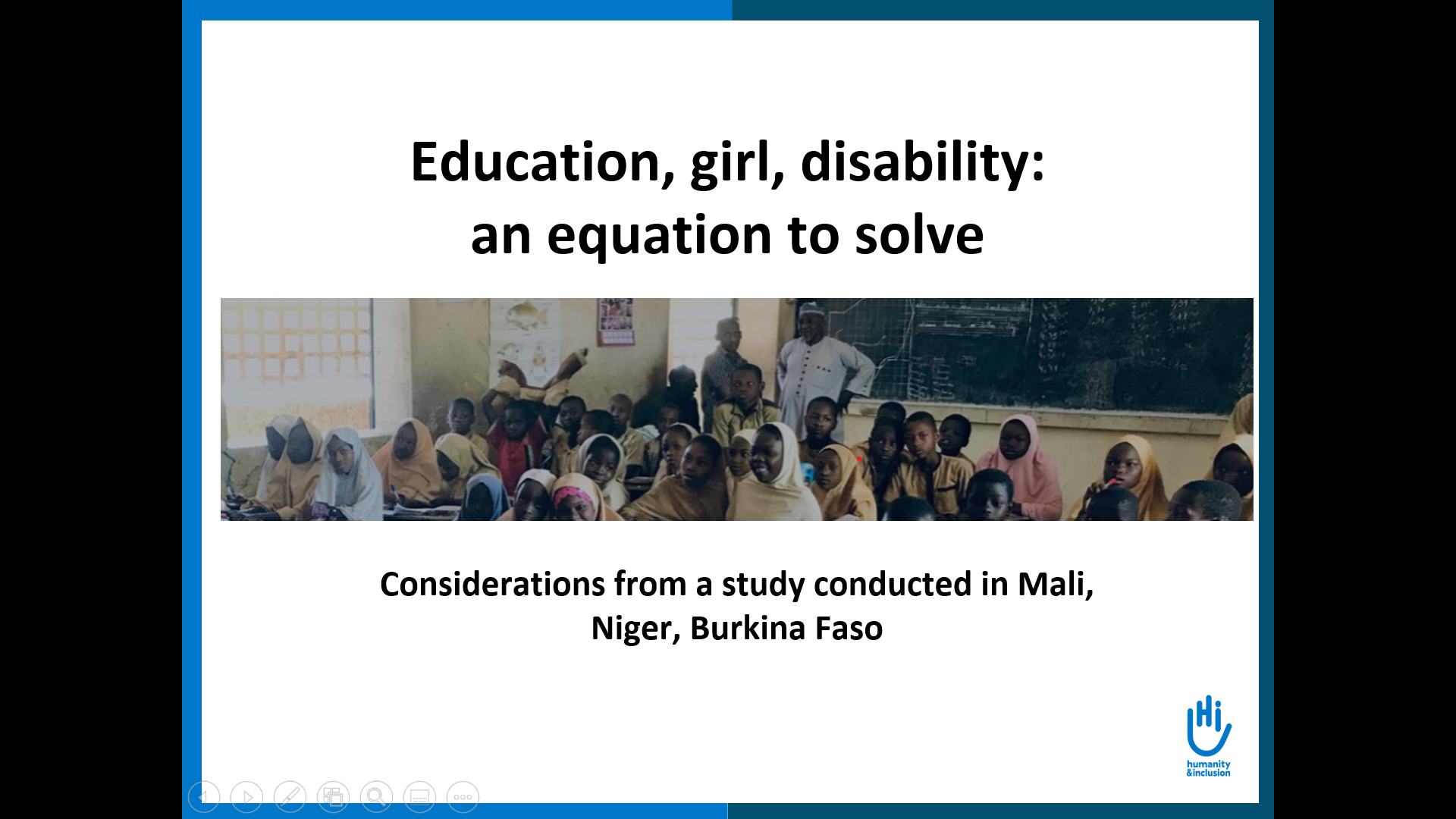 Education, girl, disability: an equation to solve - Presentation