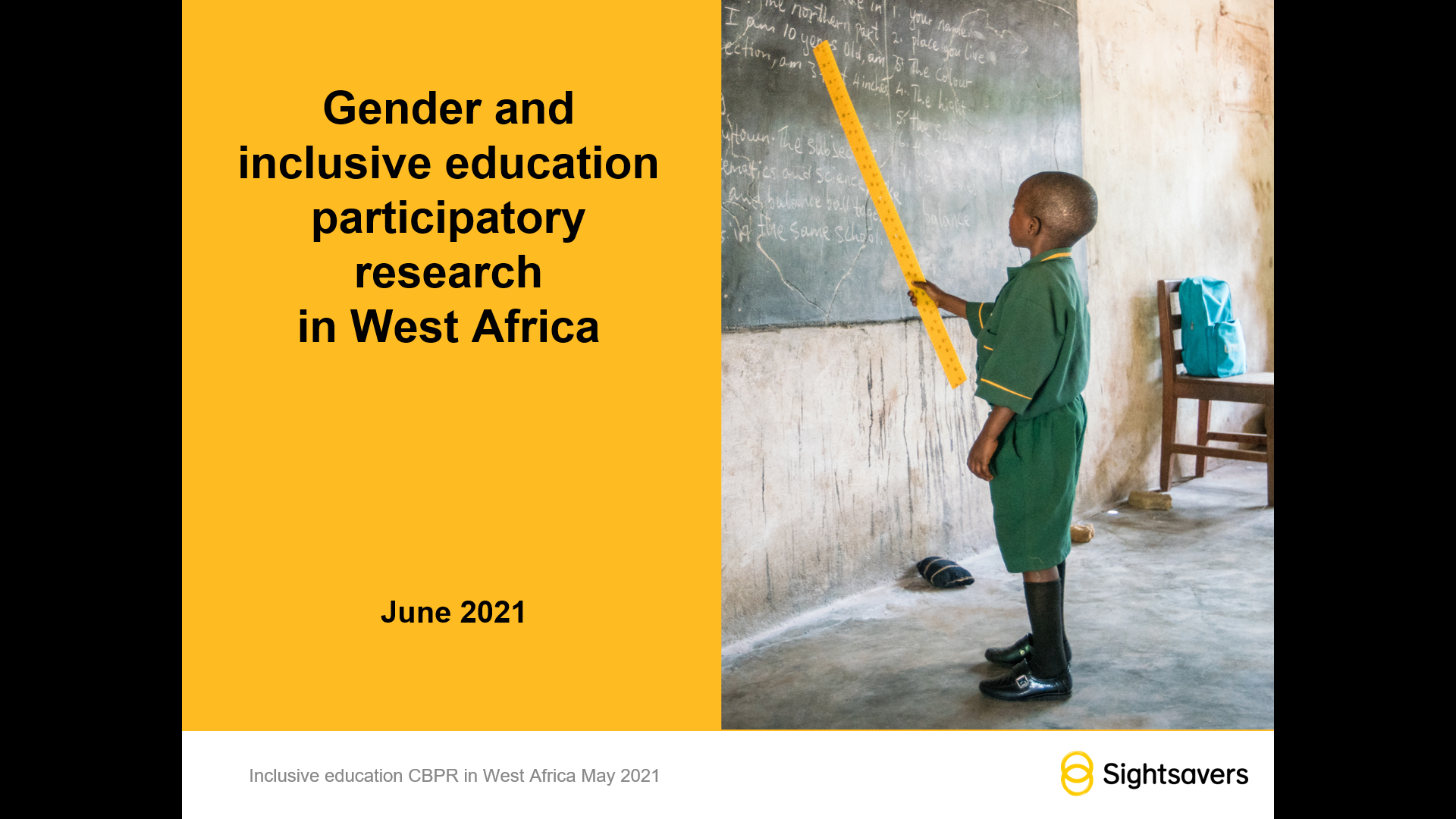 Gender and inclusive education participatory research in West Africa - Global Presentation