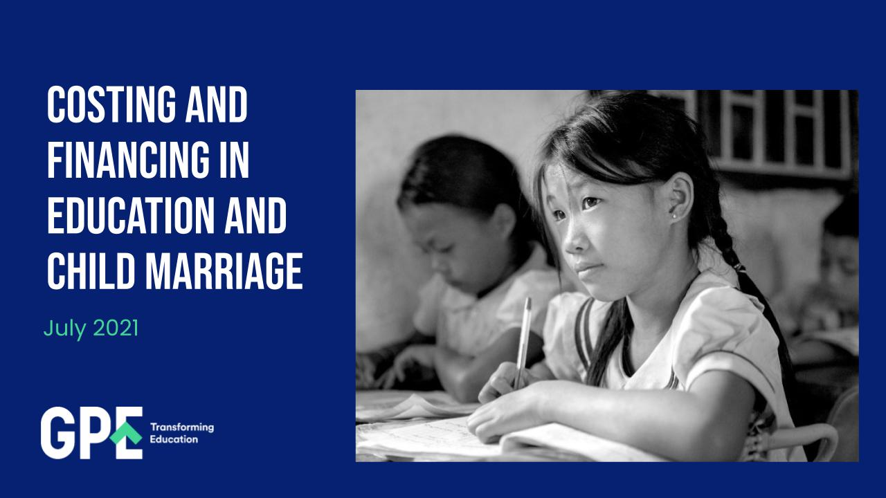 Costing and financing in education and child marriage