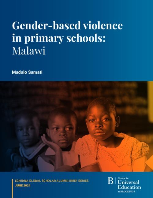 Gender-based violence in primary schools: Malawi