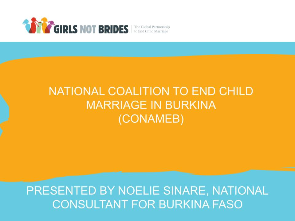 National Coalitions to End Child Marriage in Burkina Faso and Niger