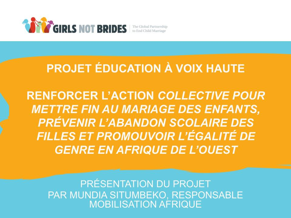 Projet Education A Voix Haute