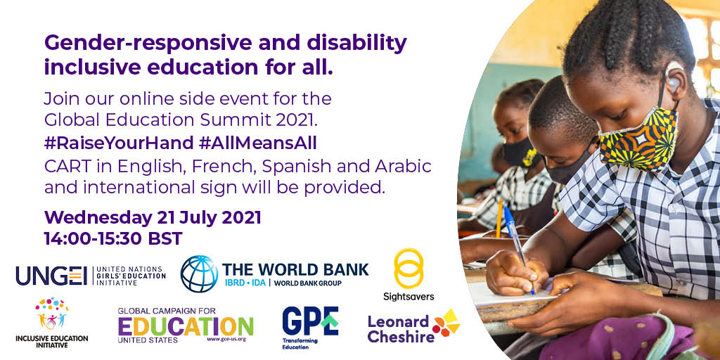 Gender-responsive and disability-inclusive education for all