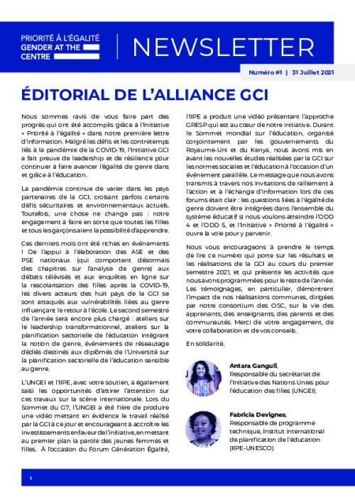 GCI Newsletter - Issue 1