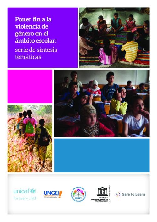 Poner fin a la  violencia de  género en el  ámbito escolar: serie de síntesis  temáticas