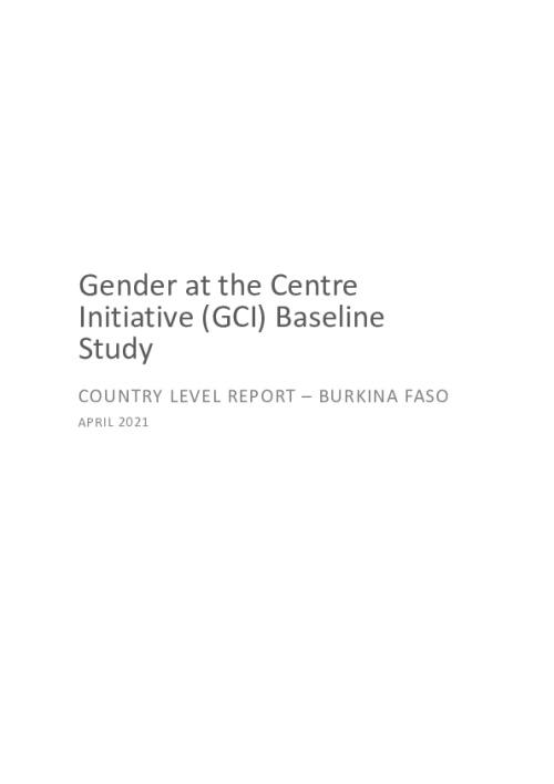 GCI Baseline Study Country Level Report - Burkina Faso