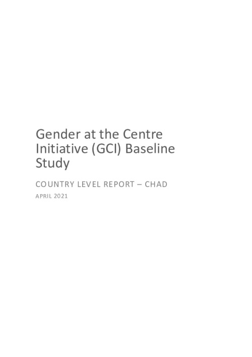 GCI Baseline Study Country Level Report - Chad