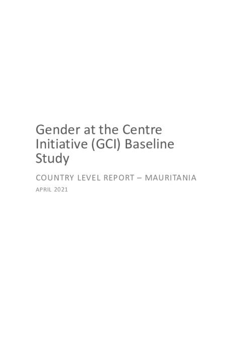 GCI Baseline Study Country Level Report - Mauritania