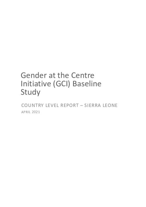 GCI Baseline Study Country Level Report - Sierra Leone