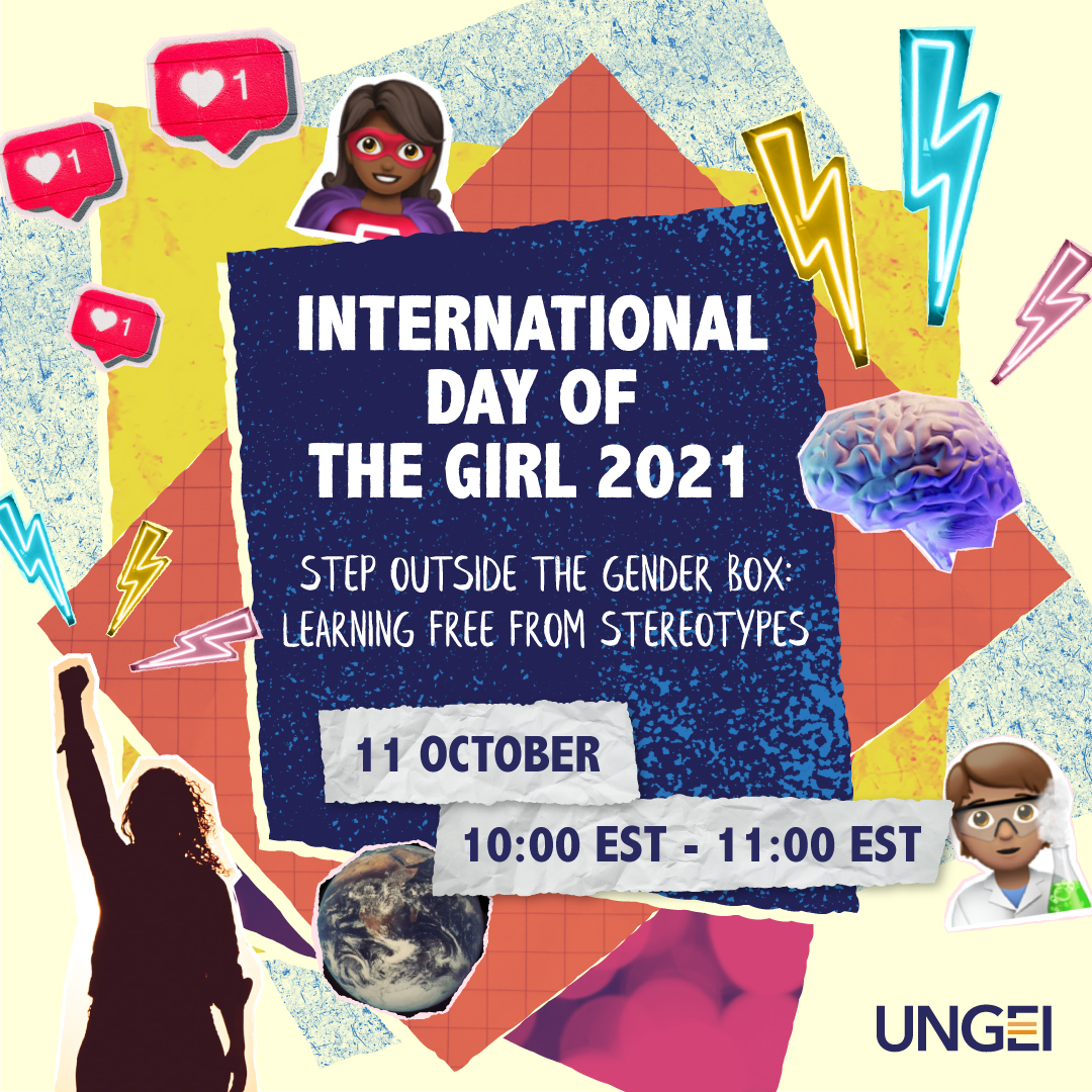 This International Day of the Girl, say NO to gender stereotypes in schools