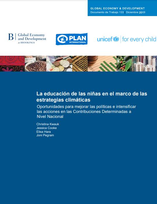 La educación de las niñas en el marco de las estrategias climáticas