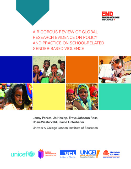 A rigorous review of global research evidence on policy and practice on school-related gender-based violence