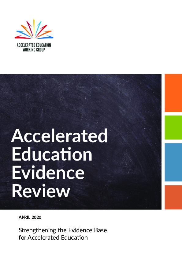 Accelerated Education Evidence Review