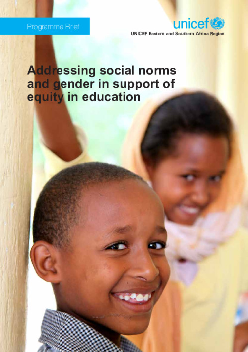 Addressing social norms and gender in support of equity in education