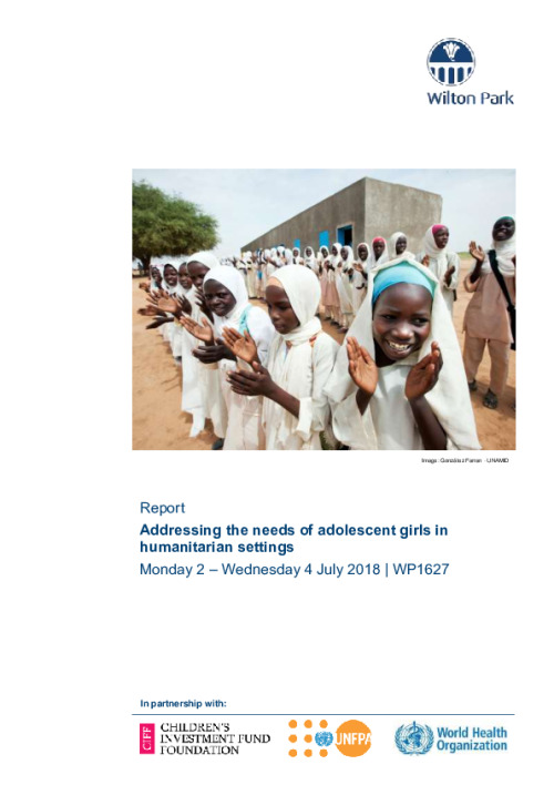 Report: Addressing the needs of adolescent girls in humanitarian settings