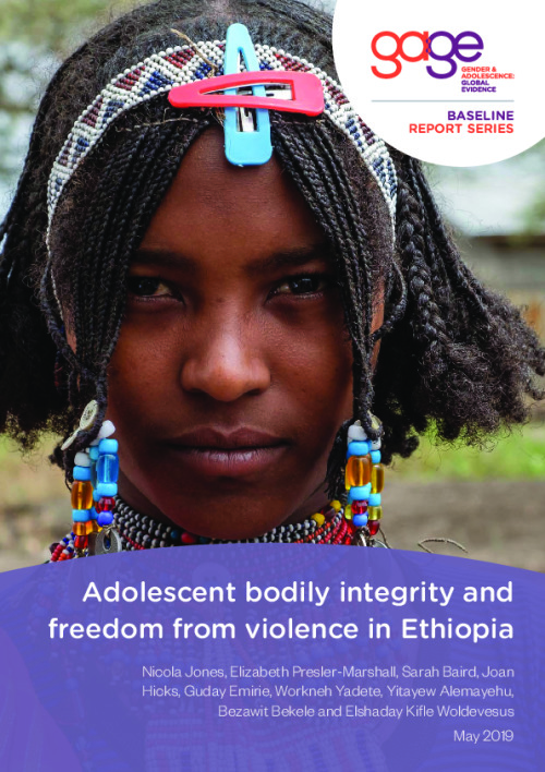 Adolescent bodily integrity and freedom from violence in Ethiopia