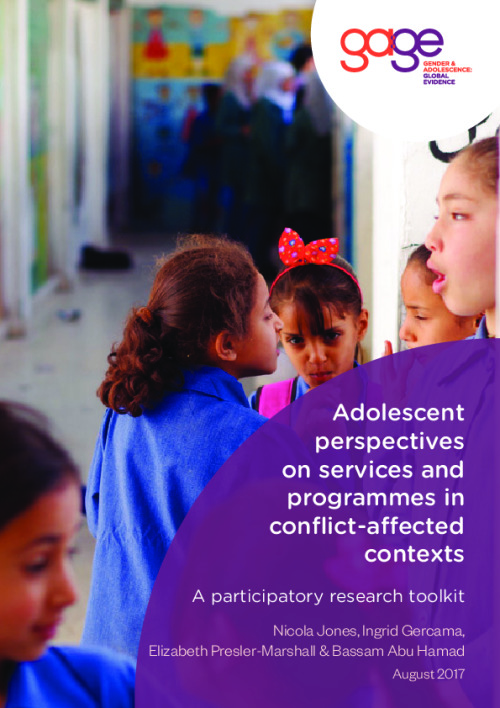 Adolescent perspectives on services and programmes in conflict-affected contexts