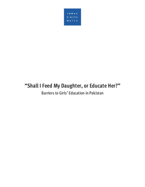 """Shall I Feed My Daughter, or Educate Her?"""