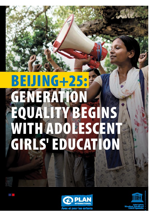 Beijing +25: Generation Equality begins with adolescent girls' education