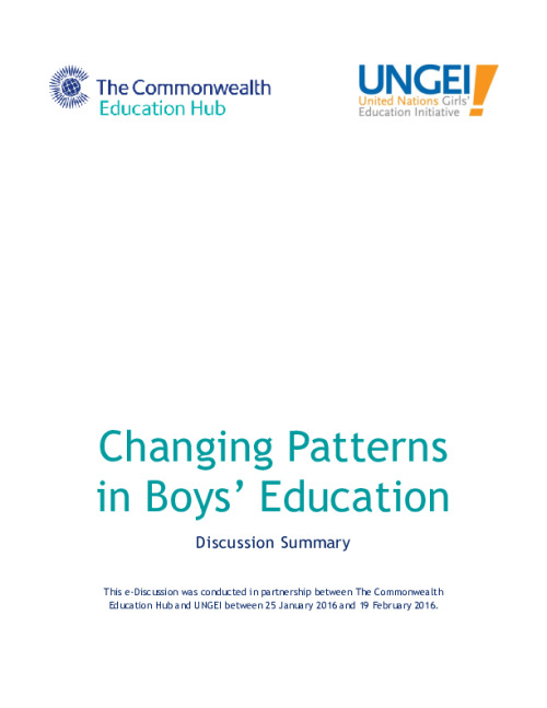 Changing Patterns in Boys' Education