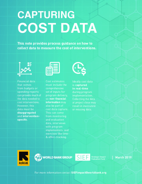Capturing Cost Data