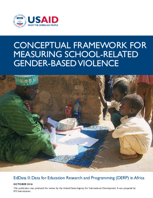 Conceptual Framework and Toolkit for Measuring School-Related Gender-Based Violence