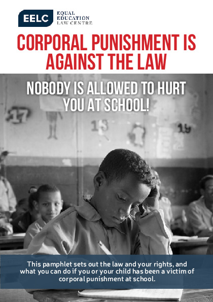 Corporal Punishment is Against the Law