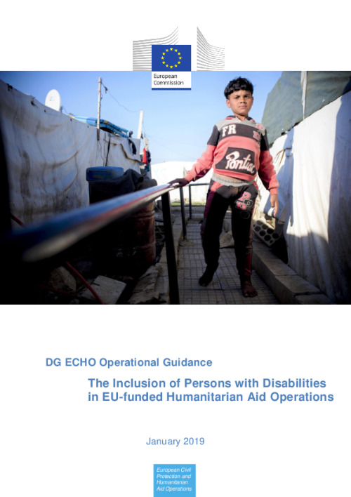 DG ECHO Operational Guidance The Inclusion of Persons with Disabilities in EU-funded Humanitarian Aid Operations