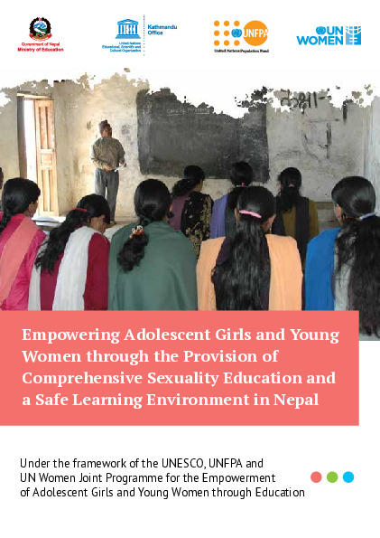 Empowering adolescent girls and young women through the provision of comprehensive sexuality education and a safe Learning environments in Nepal